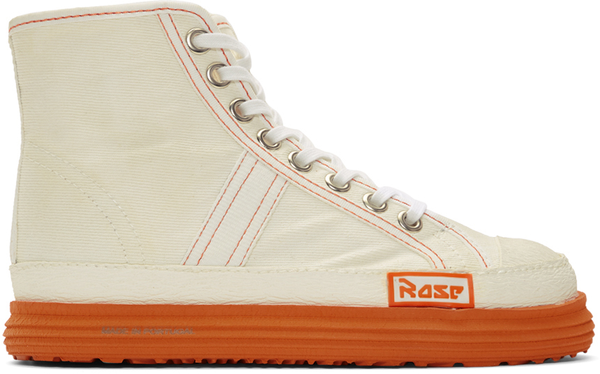 Martine Rose Sneakers White Denim Basketball Sneakers