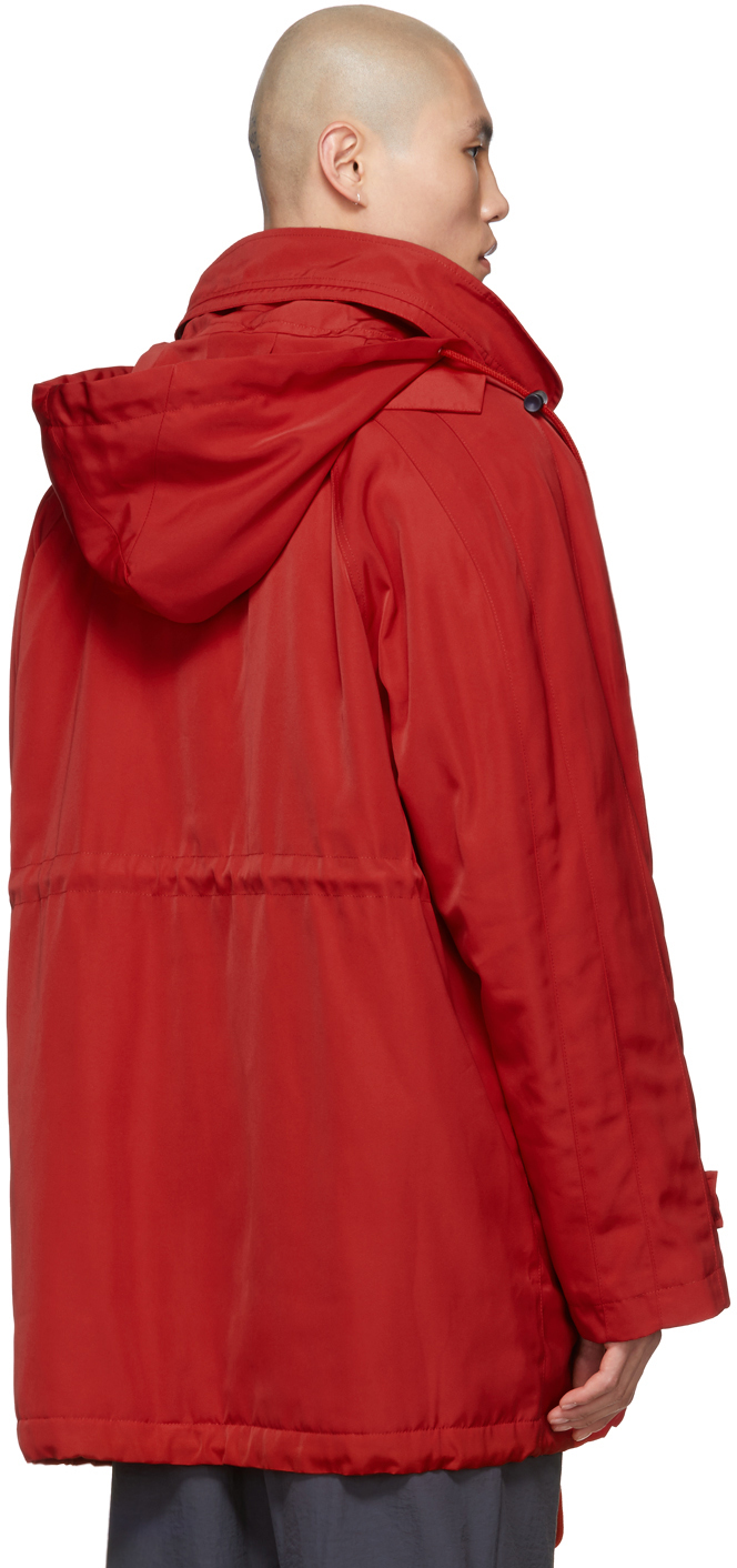 Martine Rose Coats Red Sports Parka