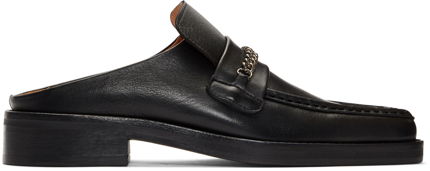 Martine Rose Loafers Black Leather Slip-On Loafers
