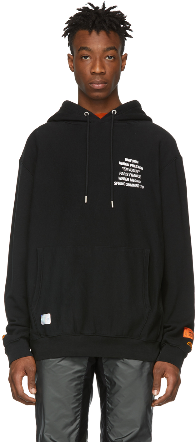 Heron Preston Accessories Black Metal Workers Hoodie