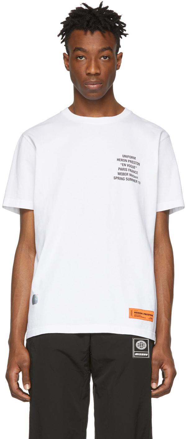 Heron Preston T-shirts White Metal Worker T-Shirt