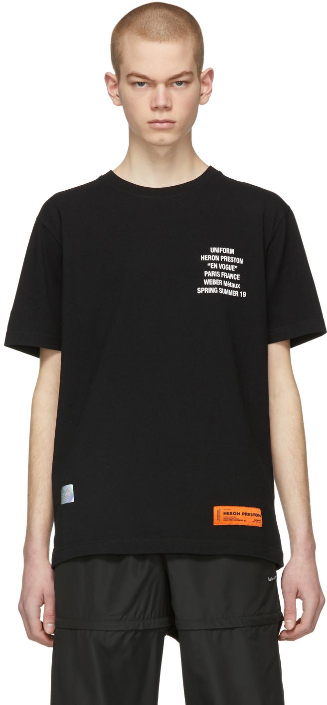 Heron Preston T-shirts Black Metal Worker T-Shirt