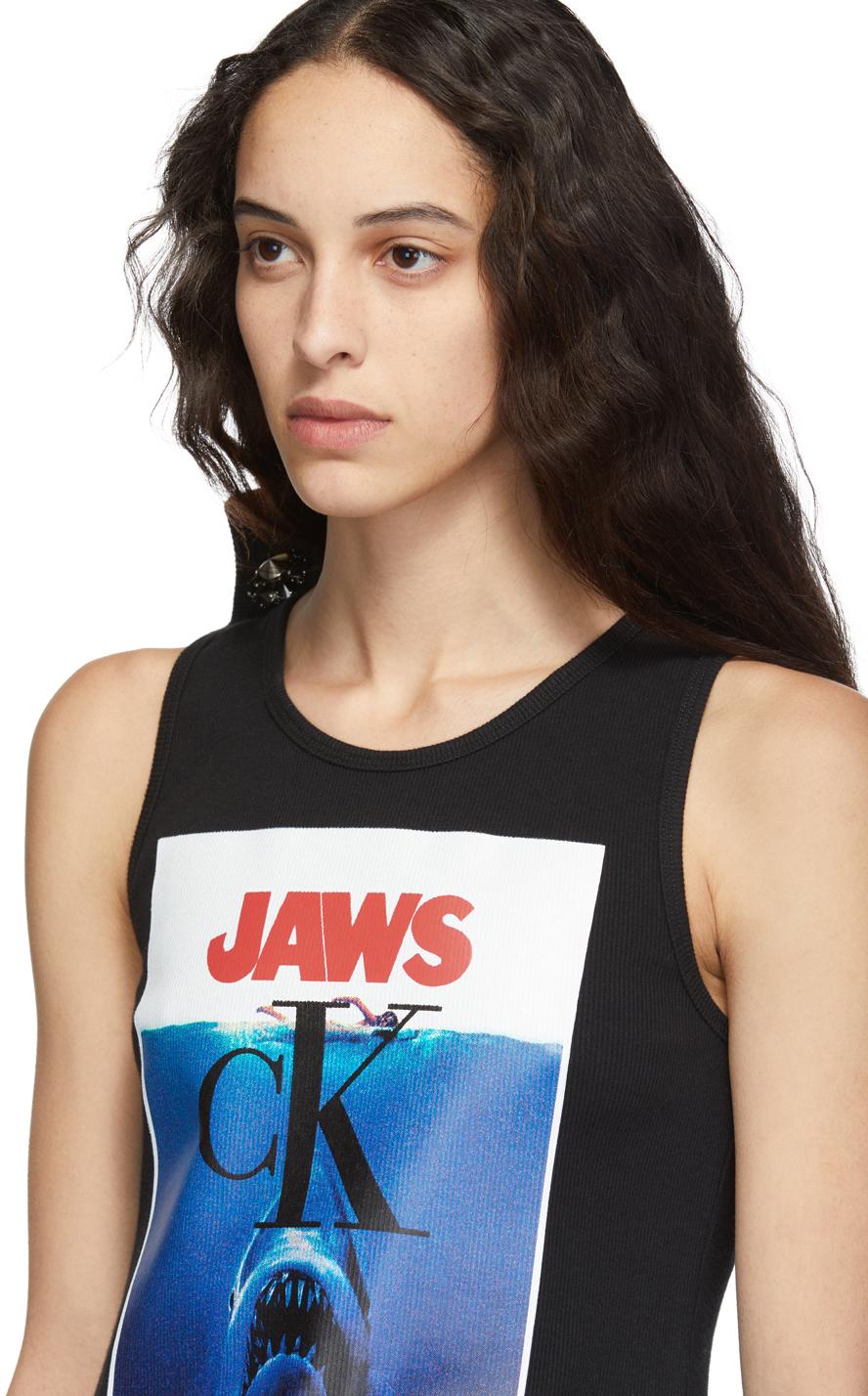 Calvin Klein 205w39nyc Tops Black 'Jaws' Tank Top