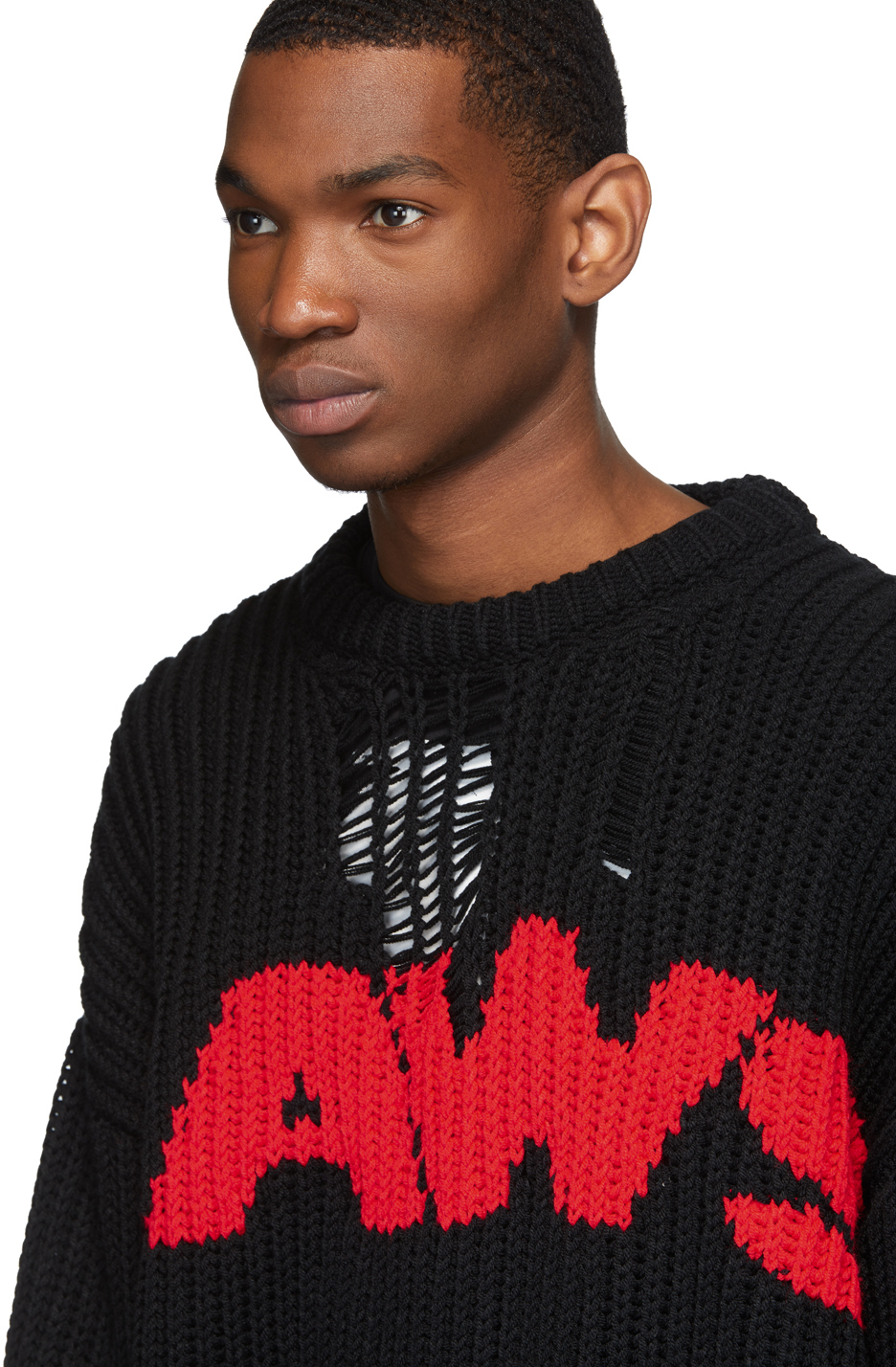 Calvin Klein 205w39nyc Sweaters Black 'Jaws' Sweater