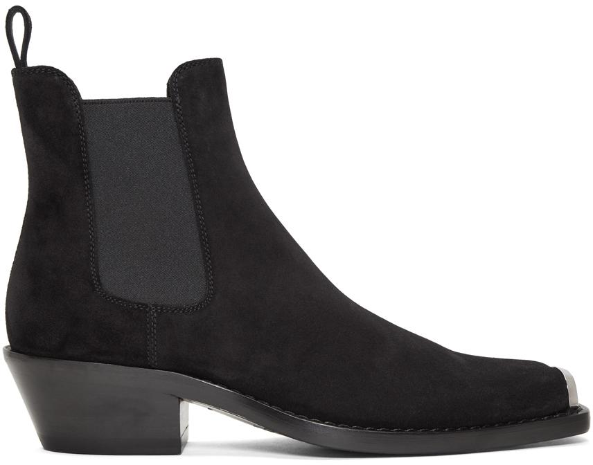 Calvin Klein 205w39nyc Boots Black Suede Western Chris Crosta Boot
