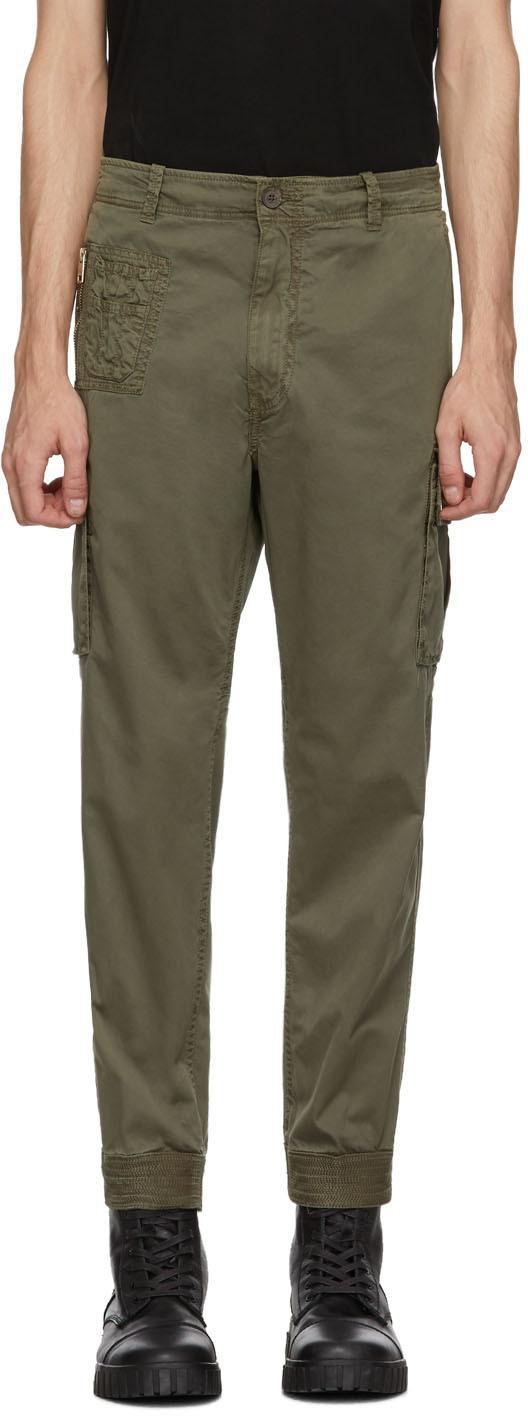 Diesel Pants Green P-Phantosky Cargo Pants