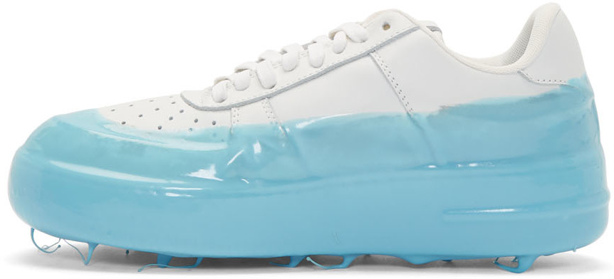 424 Sneakers Off-White & Blue Dipped Sneakers
