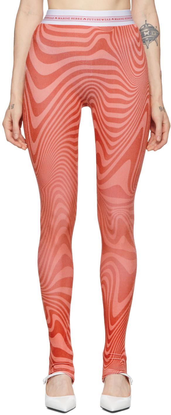 Marine Serre Pants SSENSE Exclusive Pink Zebra Iconic Leggings