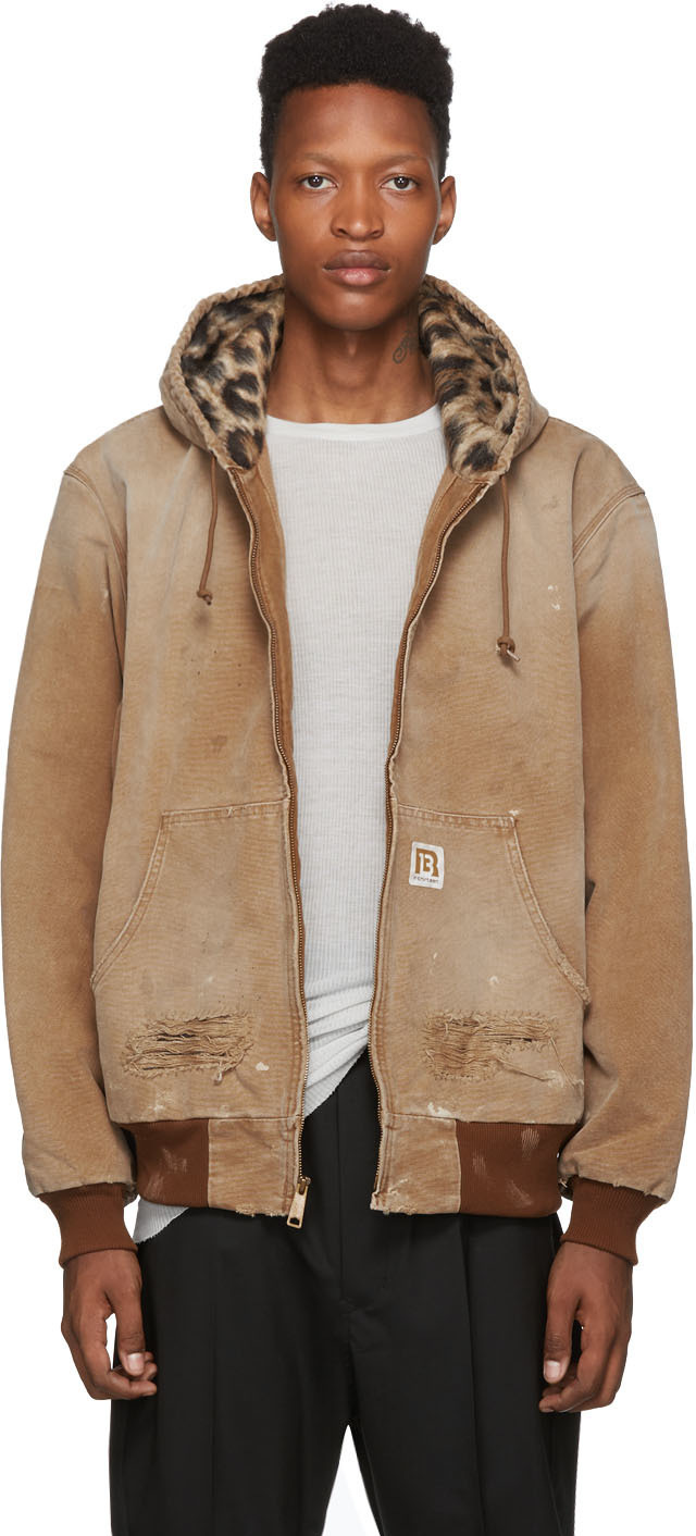 R13 Jackets Tan Vintage Duck Thermal Lined Jacket