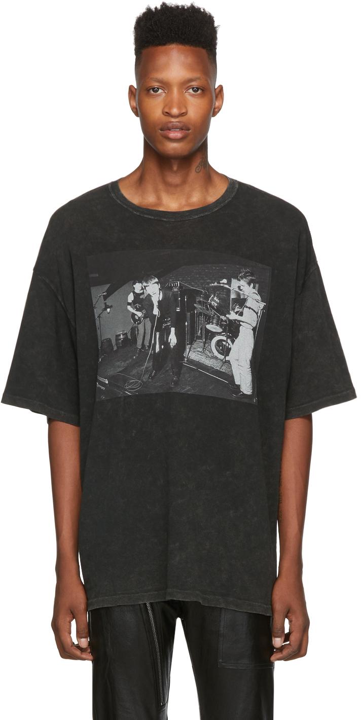 R13 T-shirts Black Joy Division Warsaw T-Shirt