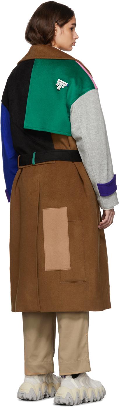 Ader Error Coats Multicolor Wool Robe Trench Coat