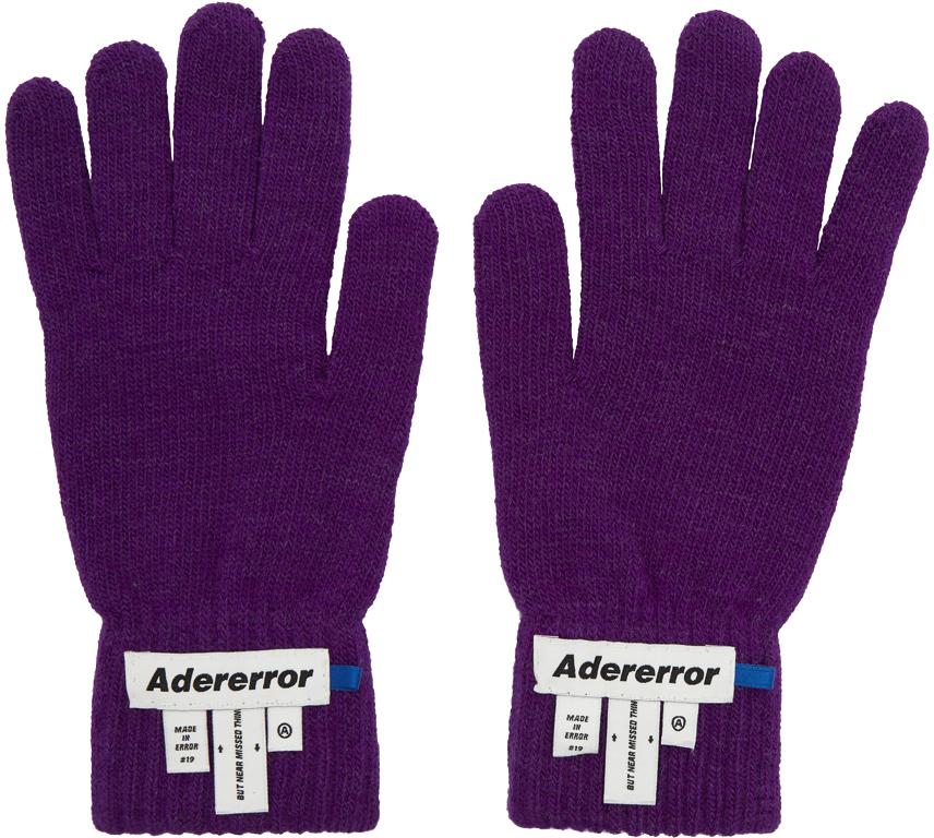 Ader Error Gloves Purple Wrist Label Play Gloves