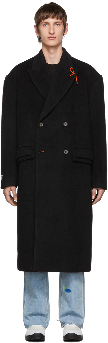 Ader Error Coats Black Sherlock Double Coat