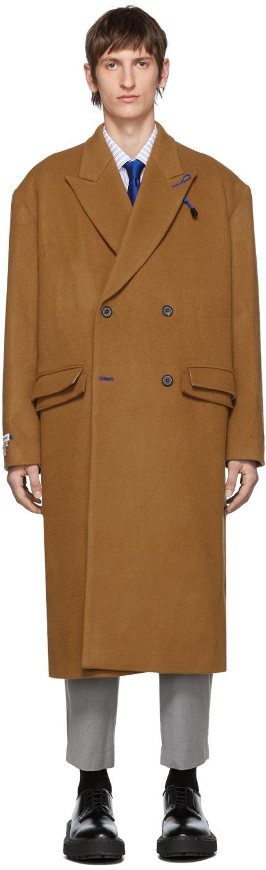 Ader Error Coats Tan Sherlock Double Coat