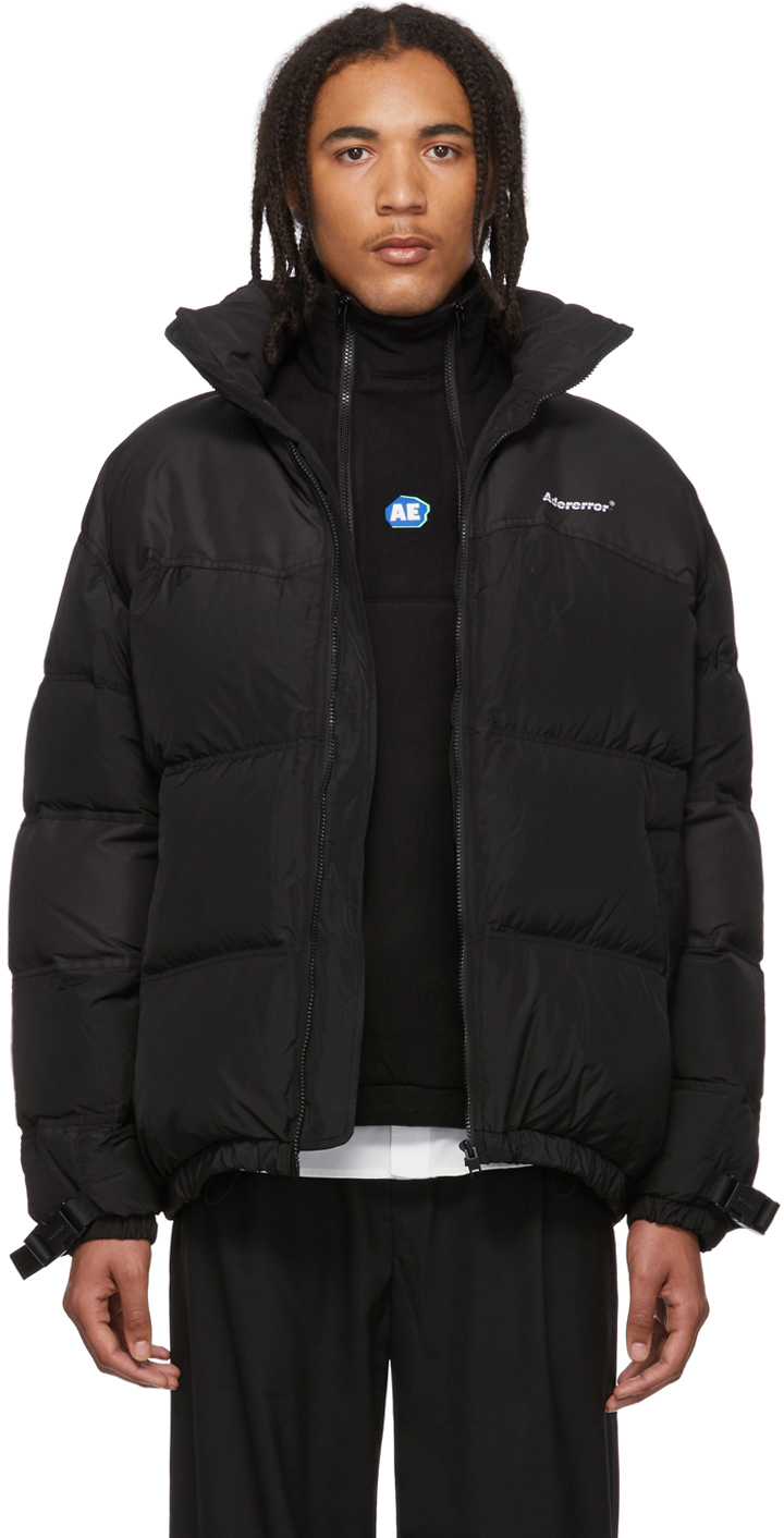 Ader Error Jackets Black Down Dup Puffer Jacket