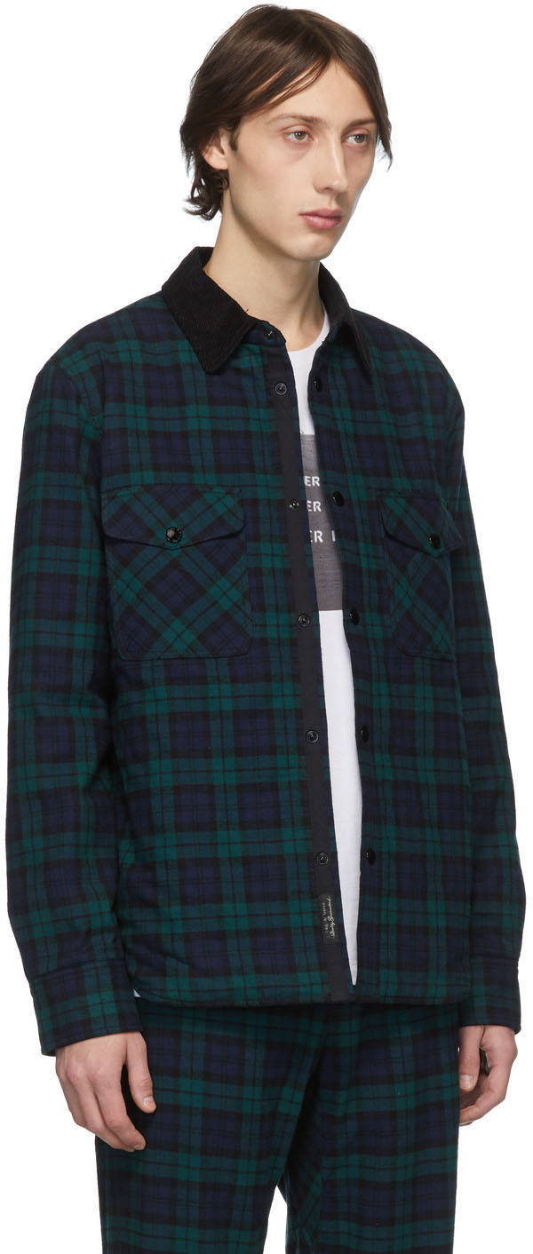 Rag & Bone Jackets Black Plaid Padded Shirt Jacket
