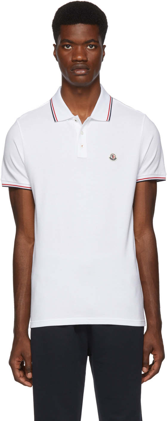 Moncler Accessories White Logo Patch Polo