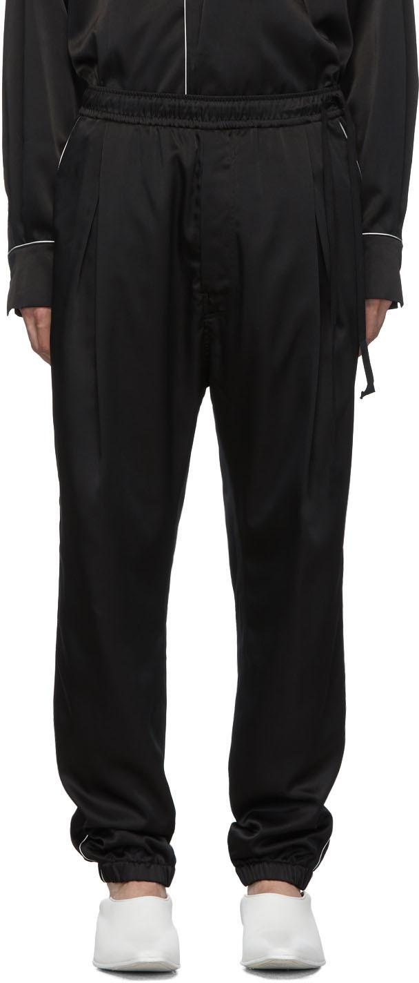 Bed J.w. Ford Pants Black Satin Track Pants