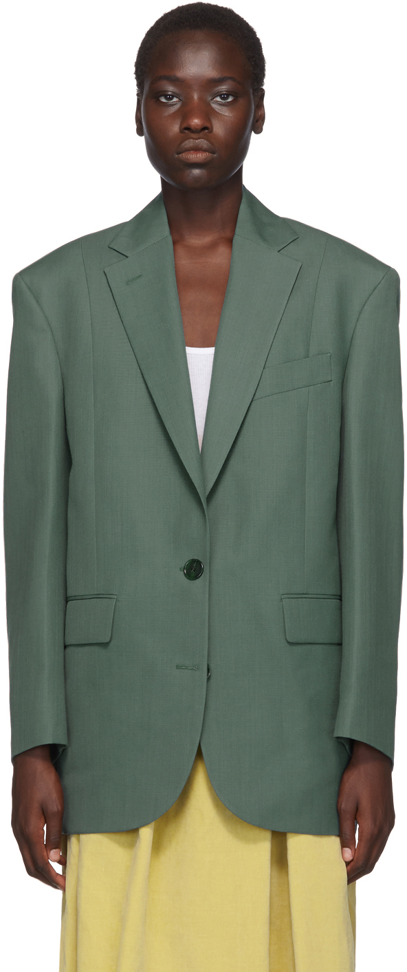 Acne Studios Blazers Green Jilly Suiting Jacket
