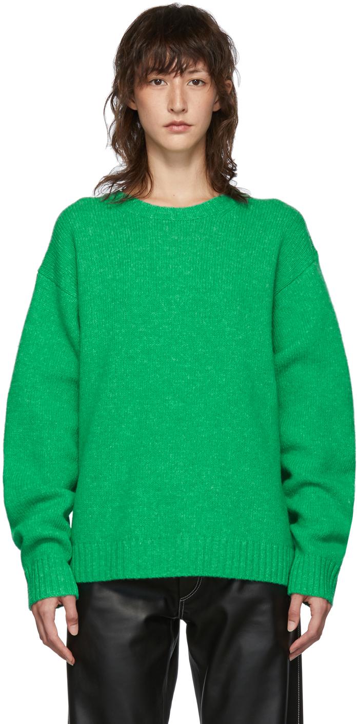 Acne Studios Sweaters Green Wool Samara Sweater
