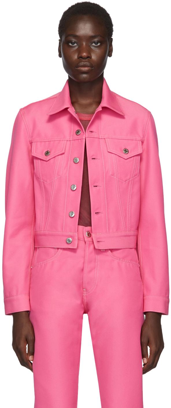 Helmut Lang Jackets Pink Denim Masc Trucker Jacket