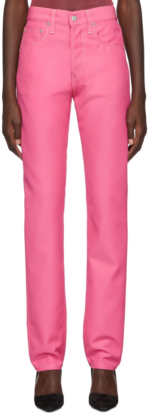 Helmut Lang Jeans Pink Masculine Straight Jeans