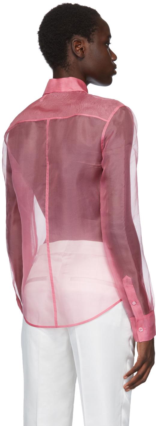 Helmut Lang T-shirts Pink Organza Shirt