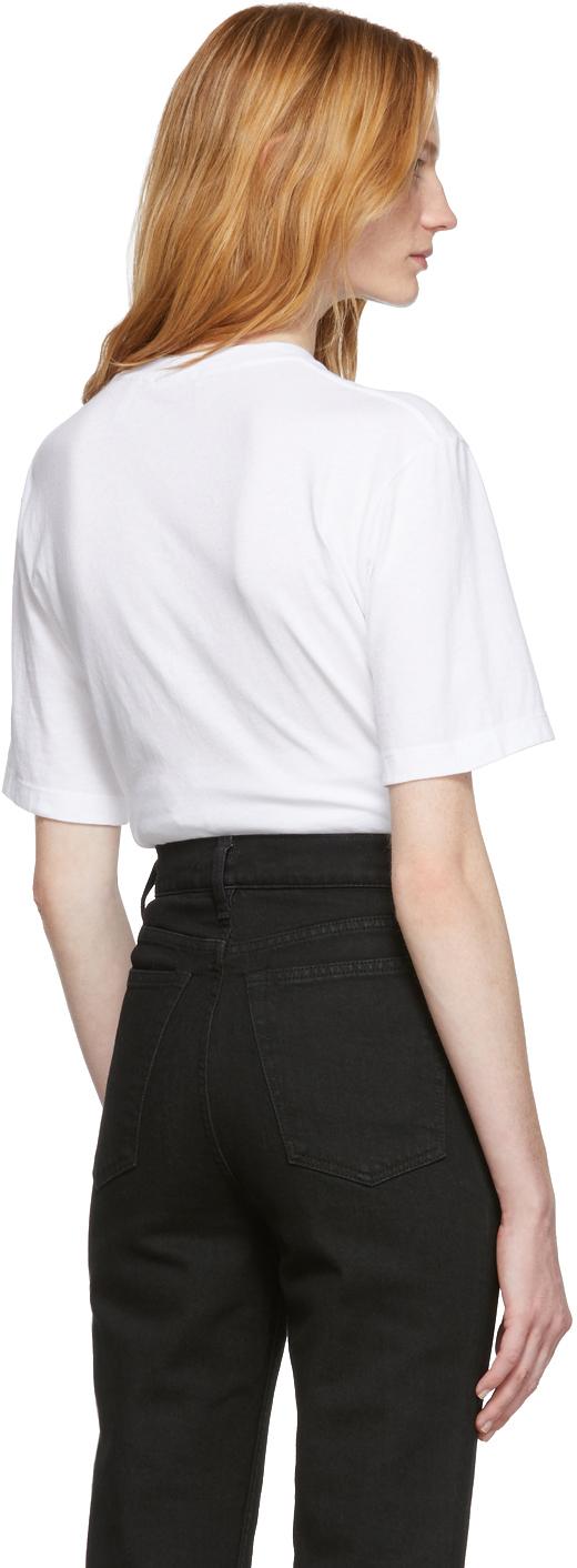 Helmut Lang T-shirts White Patch T-Shirt