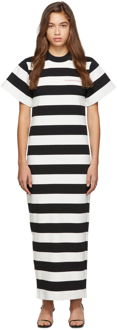 Alexander Wang Dresses Black & White Striped 'Chynatown' Dress