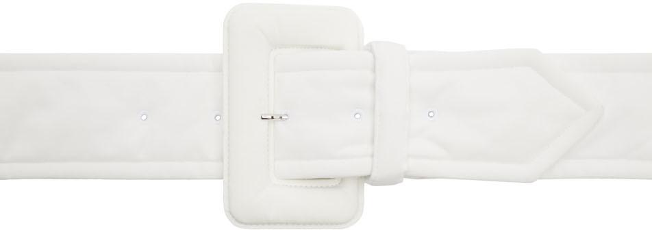 Mm6 Maison Margiela Belt White Padded Belt