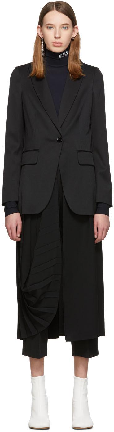 Mm6 Maison Margiela Coats Black Double Layer Coat