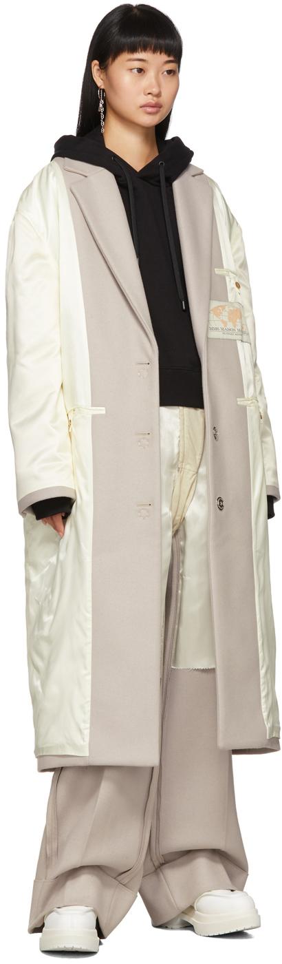 Mm6 Maison Margiela Coats Off-White Inside-Out Coat