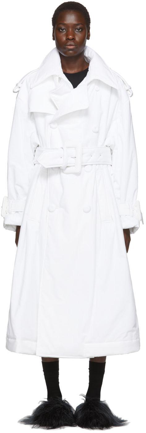 Mm6 Maison Margiela Coats White Padded Trench Coat