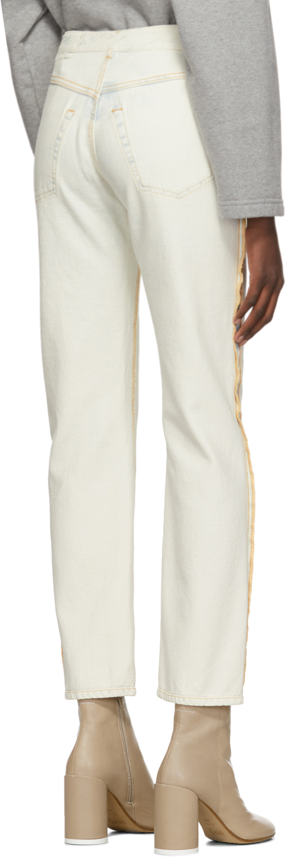 Mm6 Maison Margiela Jeans Blue & White Inside-Out Jeans