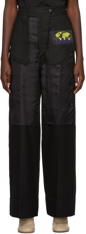 Mm6 Maison Margiela Pants Black Inside-Out Dress Trousers