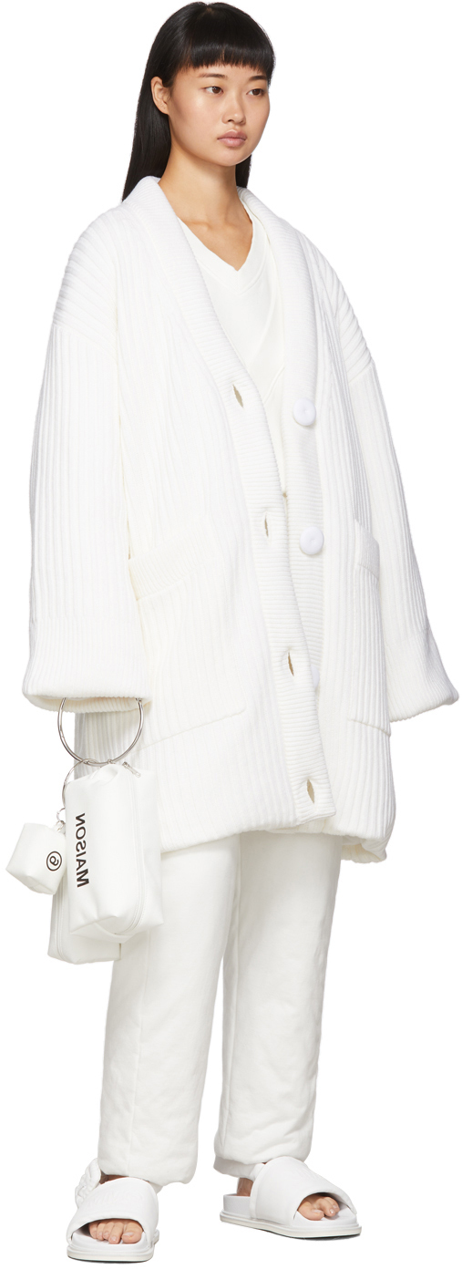 Mm6 Maison Margiela Accessories White Padded Cardigan