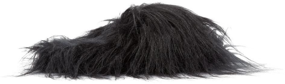 Mm6 Maison Margiela Loafers Black Hairy Slippers