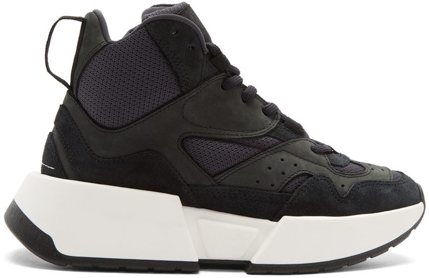Mm6 Maison Margiela Sneakers Black High-Top Chunky Sneakers