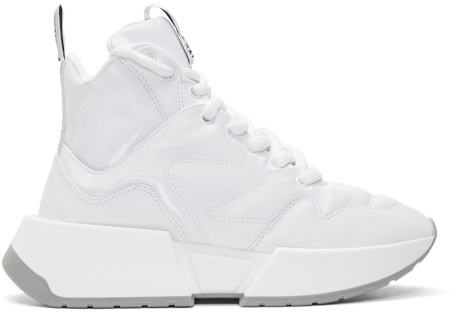 Mm6 Maison Margiela Sneakers White Padded High-Top Sneakers