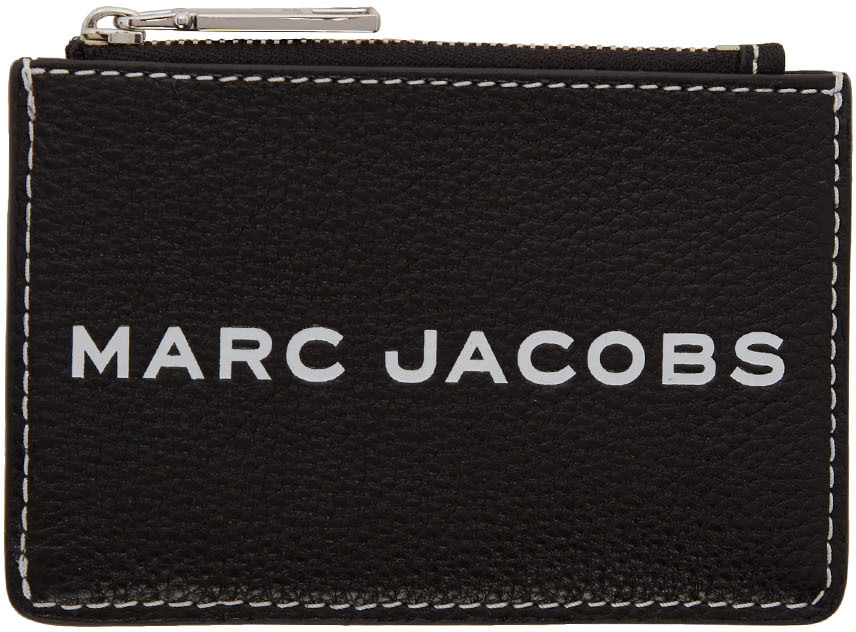 Marc Jacobs Wallets Black Textured Tag Top-Zip Multi Wallet