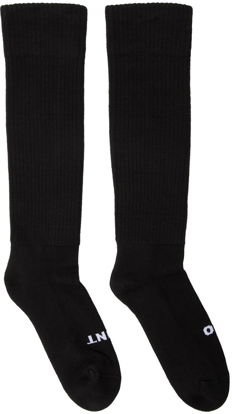 Rick Owens Socks Black 'So Cunt' Knee High Socks