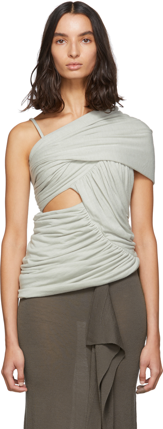 Rick Owens Tops Grey Alix Tank Top