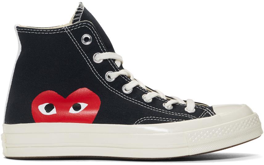 Comme Des Garçons Play Sneakers Black Converse Edition Half Heart Chuck 70 High Sneakers