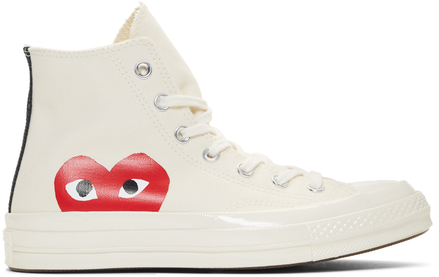 Comme Des Garçons Play Sneakers Off-White Converse Edition Half Heart Chuck 70 High Sneakers