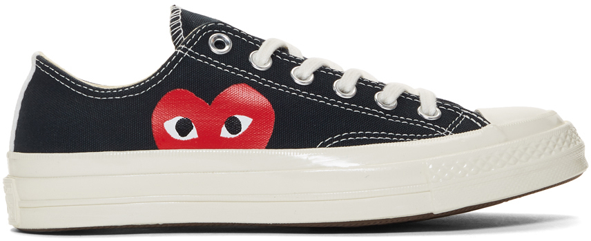Comme Des Garçons Play Sneakers Black Converse Edition Half Heart Chuck 70 Sneakers