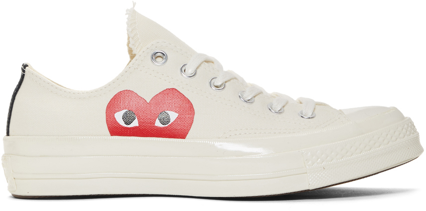 Comme Des Garçons Play Sneakers Off-White Converse Edition Half Heart Chuck 70 Sneakers
