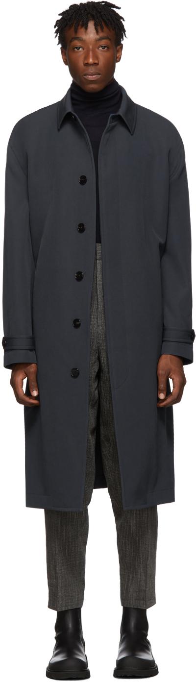 Jil Sander Coats Blue Wool Coat