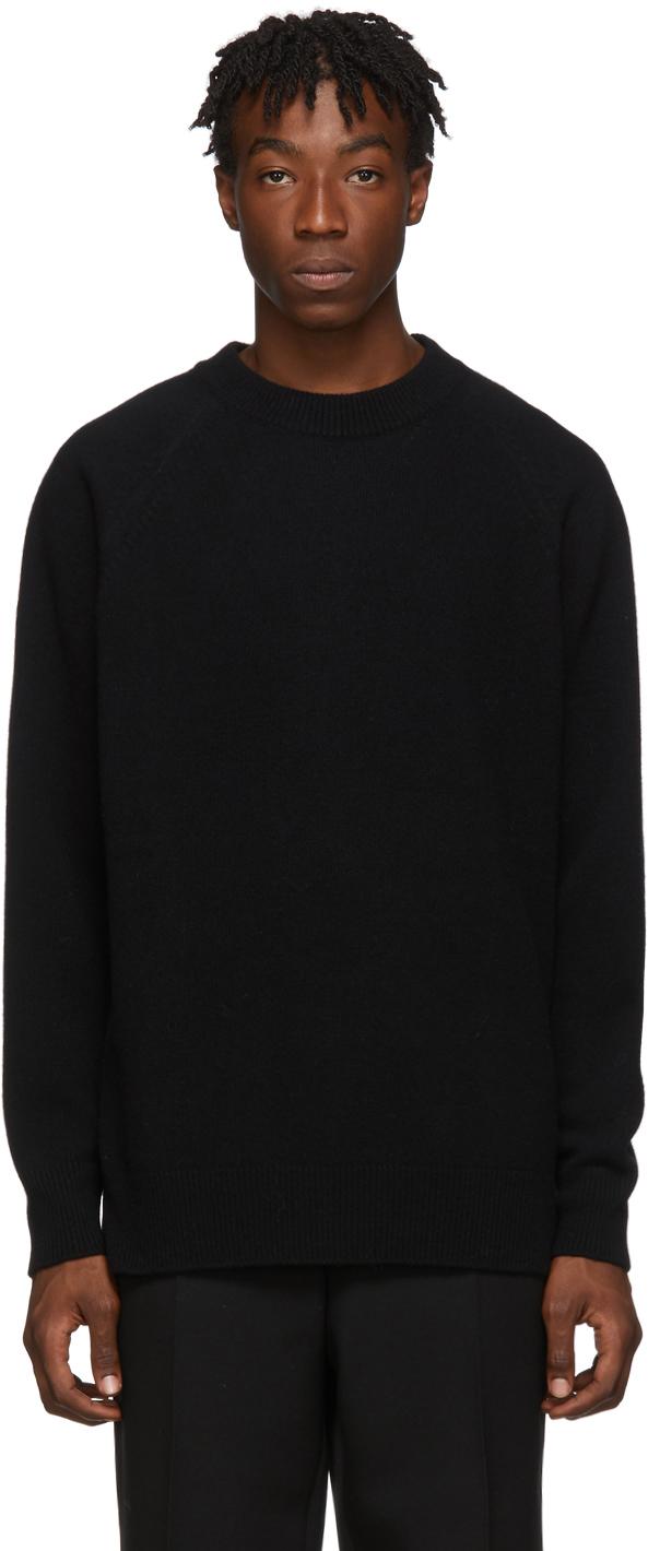 Jil Sander Sweaters Black Flyer Artwork Patch Sweater