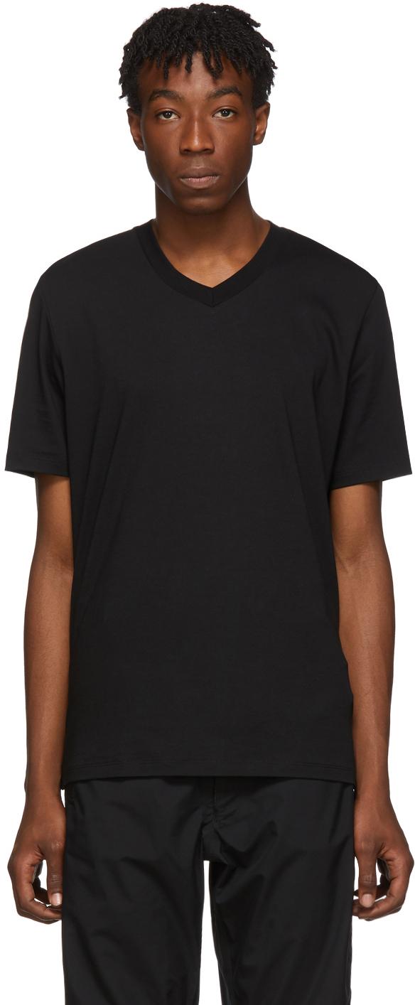 Jil Sander T-shirts Black V-Neck T-Shirt