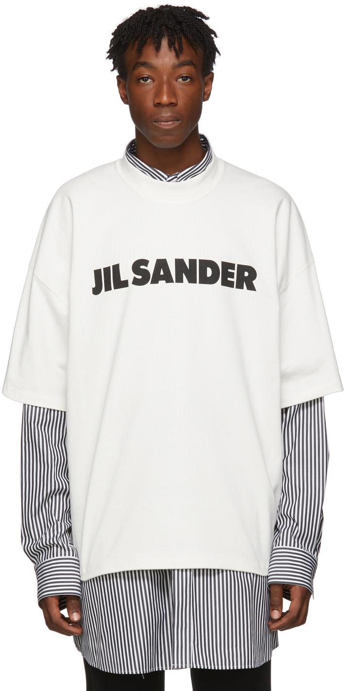 Jil Sander T-shirts White Boxy Logo T-Shirt